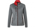James & Nicholson Damen Melange Softshelljacke, dark-melange/red
