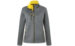 James & Nicholson Damen Melange Softshelljacke, dark-melange/yellow