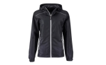 James & Nicholson Damen Regenjacke, black/silver