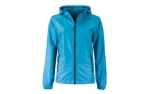 James & Nicholson Damen Regenjacke, turquoise/iron-grey