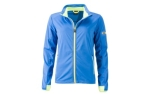 James & Nicholson Damen Softshell Sportjacke, bright-blue/bright-yellow