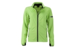 James & Nicholson Damen Softshell Sportjacke, bright-green/black