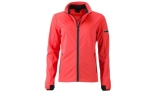 James & Nicholson Damen Softshell Sportjacke, bright-orange/black