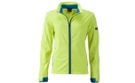 James & Nicholson Damen Softshell Sportjacke, bright-yellow/bright-blue