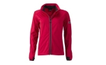 James & Nicholson Damen Softshell Sportjacke, light-red/black