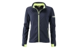 James & Nicholson Damen Softshell Sportjacke, navy/bright-yellow