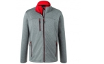 James & Nicholson Herren Melange Softshelljacke, dark-melange/red