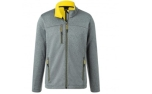 James & Nicholson Herren Melange Softshelljacke, dark-melange/yellow