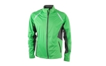 James & Nicholson Herren Softshell-Windjacke, green/carbon