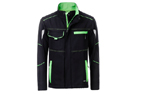 James & Nicholson Softshell Workwear Jacket, black/lime-green
