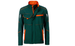 James & Nicholson Softshell Workwear Jacket, dark-green/orange