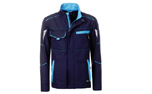 James & Nicholson Softshell Workwear Jacket, navy/turquoise