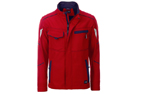 James & Nicholson Softshell Workwear Jacket, red/navy