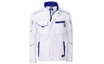 James & Nicholson Softshell Workwear Jacket, white/royal