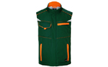 James & Nicholson Winter Workwear Softshell Weste, dark-green/orange