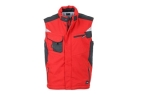 James & Nicholson Workwear Winter Softshell Weste, red/black