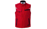 James & Nicholson Winter Workwear Softshell Weste, red/navy