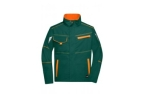 James & Nicholson Workwear Jacke, dark-green/orange
