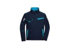 James & Nicholson Workwear Jacke, navy/turquoise