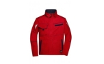 James & Nicholson Workwear Jacke, red/navy
