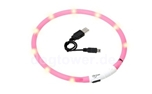 LED Leuchthalsband Visio Light, pink
