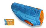 Kurgo Loft Dog Coat Wintermantel, blau/orange