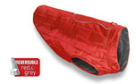 Kurgo Loft Dog Coat Wintermantel, rot/dunkelgrau