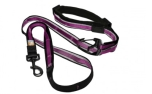 Kurgo Quantum Leash, Nylon Hundeleine, raspberry