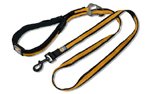 Kurgo Quantum Leash, Nylon Hundeleine, schwarz/orange