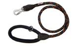Long Paws Comfort Rope Hundeleine, schwarz/orange