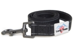 Long Paws Hundeleine Urban Trek Webbing Leash, schwarz