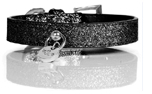 Milk and Pepper Stardust Black Dog Collar Hundehalsband, schwarz