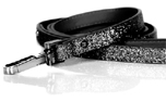 Milk and Pepper Stardust Black Dog Lead Hundeleine, schwarz