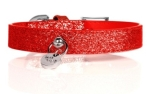 Milk and Pepper Stardust Red Dog Collar Hundehalsband, rot
