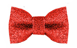 Milk and Pepper Stardust Bow Red Glitters Bow Tie Hundefliege, rot