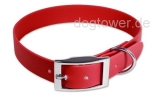 Mystique Halsband Biothane Deluxe, rot