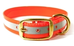 Mystique Halsband Biothane Deluxe (Messing), reflex-orange