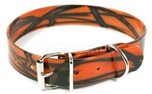 Mystique Hundehalsband Biothane, camo-orange