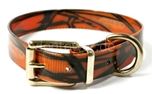 Mystique Hundehalsband Biothane (Messing), camo-orange