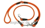 Mystique Umhängeleine Hunting Profi (Karabiner), orange