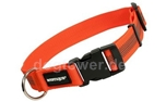 Mystique Hundehalsband gummiert, orange