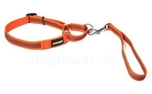 Mystique Agility Leine gummiert, neon-orange