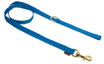 Mystique Nylon Leine (MESSING Karabiner), blau