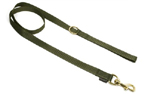 Mystique Nylon Leine (MESSING Karabiner), khaki