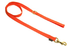 Mystique Nylon Leine (MESSING Karabiner), neonorange