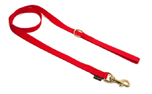 Mystique Nylon Leine (MESSING Karabiner), rot