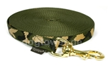 Mystique Trackingleine (20mm) mit Messingkarabiner, camouflage