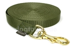 Mystique Trackingleine (20mm) mit Messingkarabiner, khaki