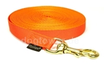 Mystique Trackingleine (20mm) mit Messingkarabiner, neon-orange