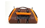 Petego Hundetasche Jet Set, orange-braun-bambus